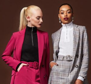 Two woman in stylish corporate clothing